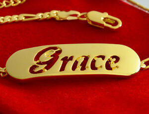 GRACE - Name In A Bracelet - Silver Plated - 18ct Gold Plated - Gifts For Her