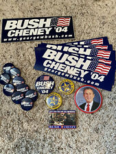 George W Bush Campaign Buttons And Bumperstickers