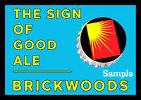 BRICKWOODS BEER Exclusive limited edition poster