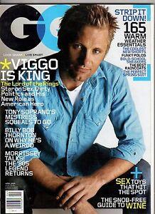 2004 GQ April - Viggo Mortensen; Billy Bob thornton; Dennis Miller; Morrisey