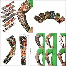 6 pcs Fake Temporary Tatto Sleeves Set Arts Arm Sunscreen Most Popular Designs