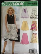 Pattern New Look 6593, misses' a-line skirts, var. styles 10-22