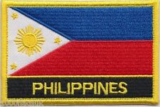 Philippines Flag Embroidered Patch Badge - Sew or Iron on