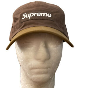 SUPREME WAX COTTON CAMP CAP BROWN OS FW21 WEEK 4 (IN HAND) AUTHENTIC, BRAND NEW