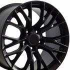 1718 Satin Black Wheels Fit Camaro Corvette C4c5 C7 Z06 Style Set Of 4