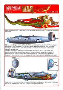 Kits World Decals 1/48 CONSOLIDATED B-24J LIBERATOR The Dragon and his Tail