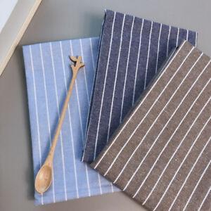 Sets 100% Cotton Linen Kitchen Cloth Tea Towels Placemat Napkins Teatowels