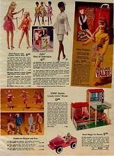1970 ADVERTISEMENT Doll Julia Nurse Francie Barbie Livin' House Sand Buggy Dawn