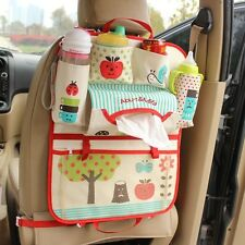 New Car Seat Back Storage Bag Organizer for Mommy Cartoons Pattern