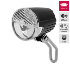 LED Scheinwerfer mit Schalter für Nabendynamo 30 Lux + Standlicht + Sensor 01009