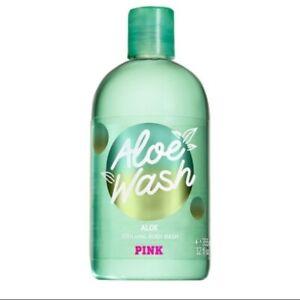 Victorias Secret PINK Aloe wash soothing body wash NEW 12 oz shower bath