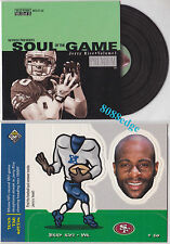 (2) SOUL OF THE GAME/BOBBING HEAD INSERT LOT: JERRY RICE #12/M25 DIE-CUT/POP UP