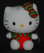 TY HELLO KITTY CHRISTMAS BEANIE BABY - RED wtih SCARF with TAG