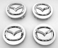 4x 56mm Mazda Nabendeckel Felgendeckel Nabenkappen Grau
