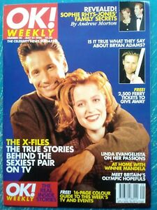 GILLIAN ANDERSON X-FILES UK OK MAGAZINE 1996 EARLY COVER MINT!!!