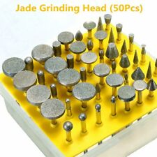 50pcs Diamond Tipped Coated Grind Head Burr Point Grit 40 For Rotary Tool