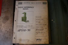 CLARK NP500-35 Electric Pallet Truck Forklift Parts Manual book catalog spare