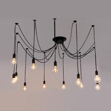 Retro Flex Cable Ceiling Pendant Lamp Light Set E27 Fitting Vintage Bulb Holder 6 Heads