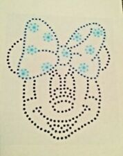 LARGE MINNIE MOUSE RHINESTONE HOTFIX CRYSTAL GEM MOTIF TEMPLATE  NEW