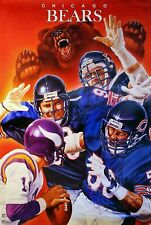 NEW IN ORIGINAL TUBE CHICAGO BEARS MONSTERS OF THE MIDWAY POSTER