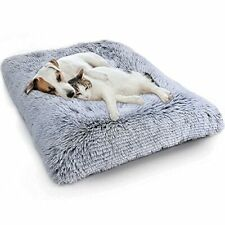 New listing Wayimpress Large Dog Crate Bed Crate Pad Mat for Medium Small Dogs&Cats,Fulffy F