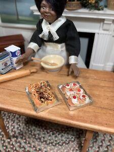 Dollhouse Miniature Artisan Set of 2 Homemade Sweet Rolls