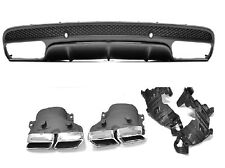 Für Mercedes-Benz C-Klasse W205 C63 AMG Look Auspuff Grill Stoßstange Diffusor ,