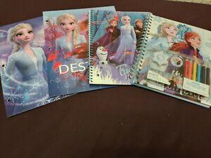 4 ~ Mixed FROZEN 2 sketchbook 1 subject notebook & portfolio Folders Bundle Deal