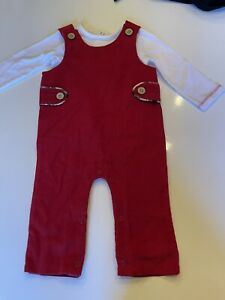 Mud Pie baby boy 3-6 months Christmas Red 2 piece outfit NWT