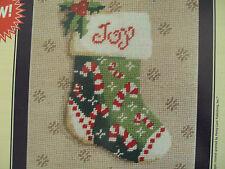 DMC Needlepoint Canvas Joy Stocking Including 20 Skeins DMC Embroidery Floss