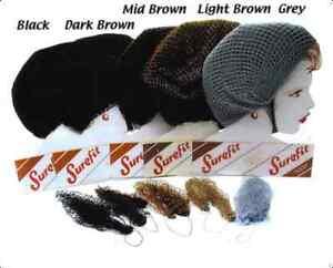 2 X Sturdy Traditional Slumber Sleep-in Hair Nets DARK BROWN (BY LION SUREFIT)