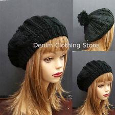 Women Girl Winter Warm Braided Beret Baggy Knit Crochet Beanie Hat Ski Cap Lot