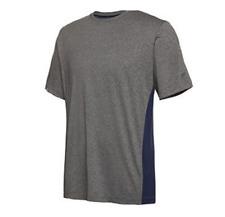 Fila Men's Short Sleeve Performance T-Shirt, Grey/Navy, XL