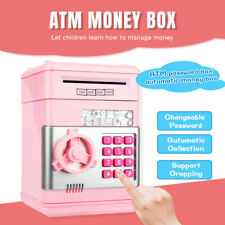 Electronic Piggy Bank Safe For Kids Children Money Box Tirelire Coins Cash ATM