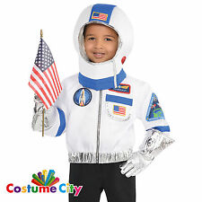 Childs Boys Girls Space Commander Astronaut Fancy Dress Costume & Accessory Kit