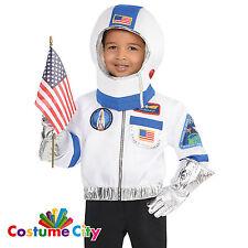 Childs Boys Girls Space Commander Astronaut Fancy Dress Costume & Accessory Kit