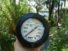 5000 PSI Dive Compressor Gauge NASA Cal/Cert Came off Bauer Cascade