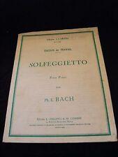Partition Solfeggietto pour piano Ph E Bach Grand Format