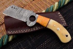 MH KNIVES CUSTOM HANDMADE DAMASCUS STEEL FULL TANG HUNTING/SKINNER KNIFE D-18