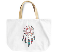 Tote Bag Dream Catcher feather tribal indian theme Durable Canvas Shopping Bag