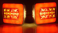 2x 4 Function LED Light Board Tail Lamp Trailer Van Bus Caravan Truck 12V/24V E4