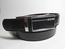 "Men New Fashion 1 3/8 Width Black Leather Belt with Automatic Buckle 36"" #078"
