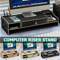 PC Computer Monitor Riser Desk Table Laptop Stand Shelf Notebook Display Holders