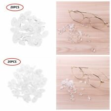 20 Clear Silicone Nose Pads Replacement Push On For Eyeglasses Glasses Anti-slip