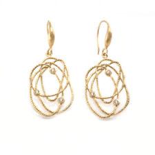 Orecchini di metalli preziosi senza pietre pendenti gancetti in oro giallo