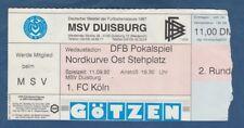Orig.Ticket   DFB Pokal  1992/93  MSV DUISBURG - 1.FC KÖLN  !!  SELTEN