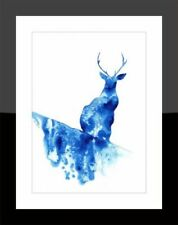 Watercolour Blue Animation Art Paintings