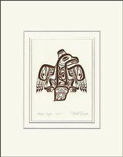 Haida artist BILL REID Embossed COPPER GHUUT - EAGLE matted art print