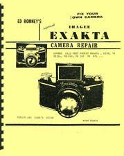Ihagee Exakta Cameras Repair Manual by Ed Romney Reprint