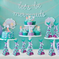 10 Pcs Mermaid Paper Candy Box Gift Case Birthday Wedding Supply Party Favor